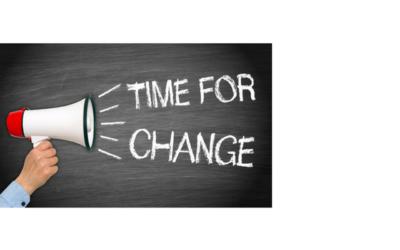 Hoog tijd om te veranderen!