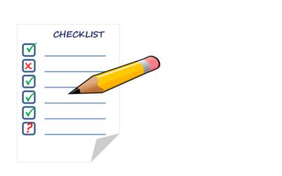 Checklist om te bepalen waar jij staat
